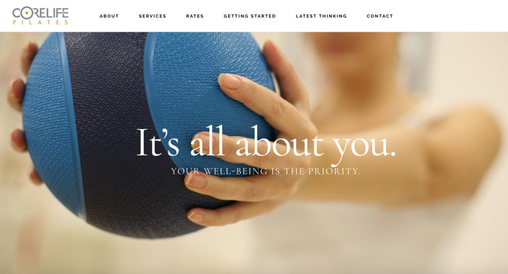 Web and Content Development Example - CoreLife Pilates